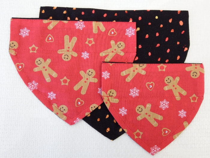 Red Gingerbread Christmas Bandana