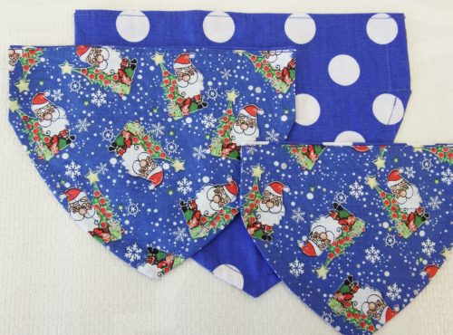 Blue Father Christmas Bandana