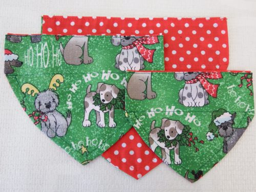 Green Dog Christmas Bandana