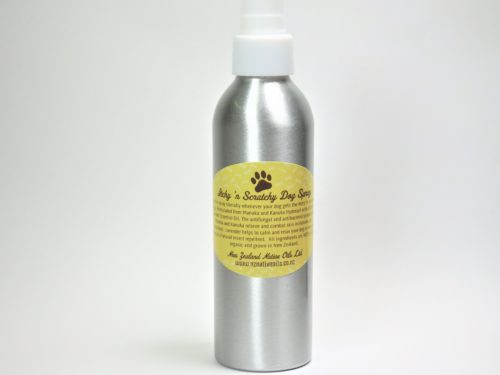 Itchy scratchy dog spray