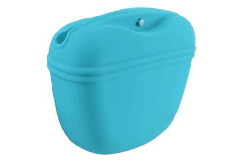Turquoise Blue Silicone Dog Treat Bag