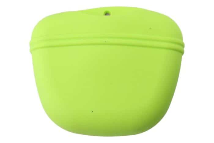 Green silicone treat bag