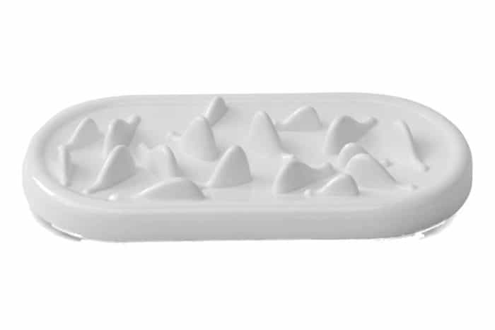 white slow feeder bowl